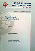 WPA 32 – Depression and professional activity Vol. 11 - N° 32, 2006
