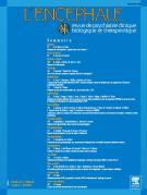 L'encéphale page de couverture bleue